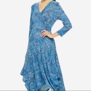 Apt 9 Large NWT Blue Knot Front Hi Lo Midi Dress